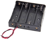 18650 3.7V Battery 4 Position Battery Holder w/ Wire Leads | WiredCo