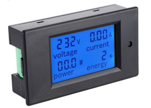 digital display ac power blue led voltage voltmeter ammeter rh wiredco com voltage monitor pc voltage monitoring relay