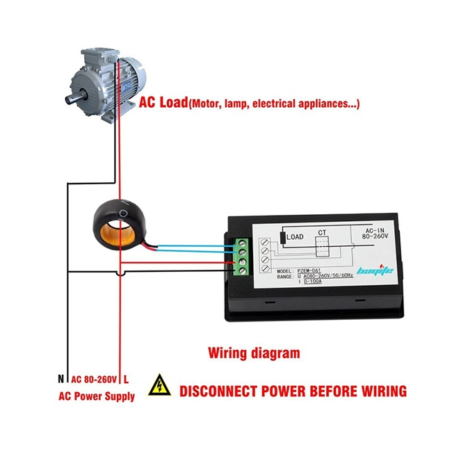 Ac Panel Ammeter Wire Diagram on