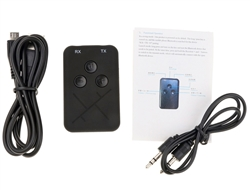 Audio 3.5mm input to Bluetooth Transmitter & adapter receiver for your TV or stereo | WiredCo