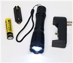 1200Lm CREE XM-L T6 LED Rechargable Tactical Flashlight 18650 w/AAA Battery Holder