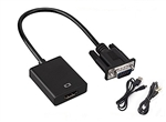 Audio Output 3.5mm Male HDMI to VGA Female Video Monitor Cable Adapter | WiredCo