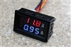 DC Dual Voltmeter Ammeter Blue Red LED < 100VDC, 10A Digital Audio | WiredCo