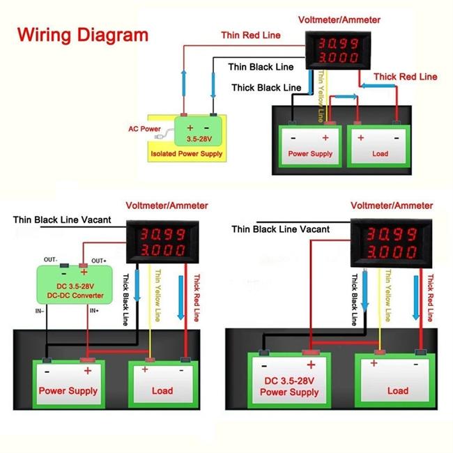 shunt ammeter solar wiring diagram ammeter wiring