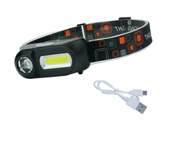 Mini Waterproof XPE COB LED 6-mode Headlight Headlamp USB 18650 Rechargeable | WiredCo