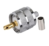 CRIMP-ON PL259 MALE RG8X Silver Plated Teflon