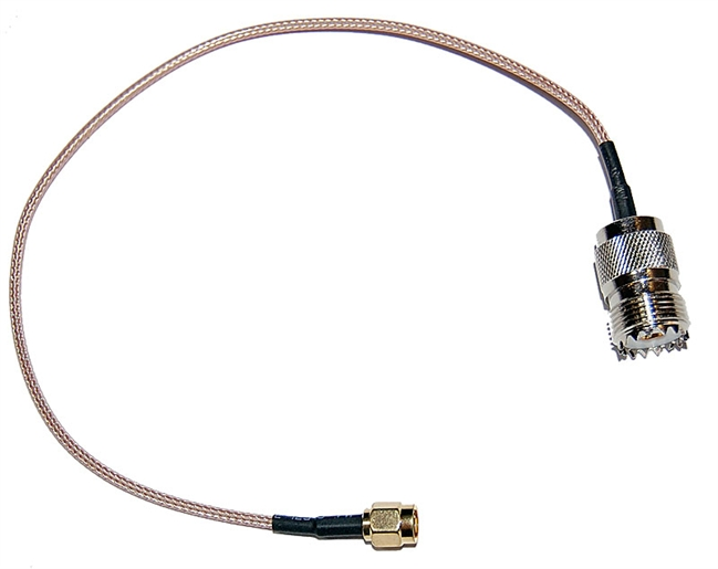 TM 2pcs SMA Female to UHF SO-239 Female Connectors Adapter, 36inch//91cm//3ft Handheld Antenna Cable for Wouxun, Baofeng, Quashing, Linton Eagles