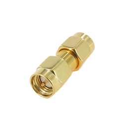 SMA Male Plug to Male Plug Adapter Coupler, Gold Plated for Ham Radio | WiredCo