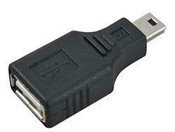 "USB Mini Cable ""B"" 5 Male to USB Cable Type A Female Adapter 