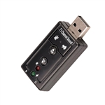USB 2.0 to Stereo Audio Sound Card Adapter Microphone-Speaker