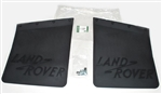 Genuine Rear Mudflaps with Logo (With Brackets) Pair - For Series Land Rover