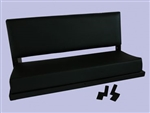 Rear Bench Seat in Black Vinyl - for Defender and Series Land Rover