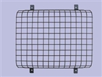 Front Black Plastic Coated Lamp Guards - Mesh Style (sold as Single NOT Pair) - For Defender and Series