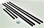 TRUCK CAB REAR SLIDING WINDOW CHANNEL SEAL SET + SCREWS FOR SERIES 2 & 3
