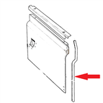 Right Hand Door Seal for Front of Series Door Bottom (attaches to bulkhead)