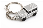 Key Ring in Silver For Land Rover Defender