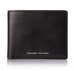 Black Leather Wallet - With Foiled For Range Rover Logo