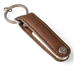 Heritage Leather Key Ring with Integrated Steel Bottle Opener For Land Rover