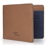 Heritage Leather Wallet - in Tan For Land Rover