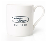 Heritage Mug in White - China Mug - For Land Rover, Genuine Land Rover Gear