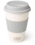 Bamboo Mug in White and Grey - A Sustainable Cup - For Land Rover, Genuine Land Rover Gear