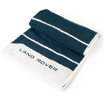 Land Rover Large Towel in Navy and White - For Genuine Land Rover Gear