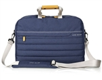 "Nylon Briefcase in Navy and Grey - With 16"" Laptop Sleve - For Land Rover, Genuine Land Rover Gear"