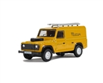 Die-Cast For Land Rover Defender 110 - British Telecom in Yellow - Scale 1:76