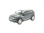 Die-Cast For Range Rover Evoque Mk 1 Coupe in Baltic Blue - Scale 1:76 Model Car