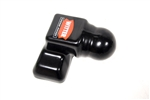Genuine 50mm Tow Ball Cover in Black - For Land Rover and Range Rover - Genuine Option Has Land Rover Oval Logo