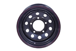 "Black Modular Steel Wheel 16"" x 7"""
