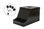 Def & Series Black Steel Lockable Cuby Box