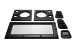 Satin Black Mesh Style Grill and Side Vent kit