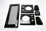 Gloss Black Mesh Style Grill and Side Vent kit