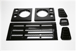 Gloss Black Bar Style Grill and Side Vent kit