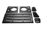Satin Black Bar Style Grill and Side Vent kit