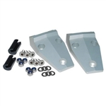 Silver Aluminium Bonnet Hinge kit for Defender 83-16