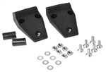 Black Anodised Aluminium Bonnet Hinge kit for Defender 83-16