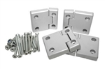 Full Aluminium Second Row Doors Hinge Kit - Complete with Stainless Hinge Pins - For Defender / Series