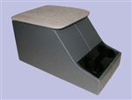 XS Style Cubby Box - Dark Grey Base With Light Grey Top - Can Also Be Fitted For Series, Defender