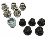 Gloss Black Locking Alloy wheel nut kit for Defender DA3548