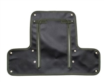 Radiator Muff for Land Rover Series 2 & Early 2A - In Black with Green Edging