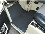 Rubber Footwell Mat Set - Front In Black - By Autograph - For Land Rover Series II & III, Series 2, 2A & 3