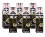 Raptor 2K Black Aerosol - 10 x Tougher - 400ml Aerosols (NOT FOR EXPORT) - PACK OF 6