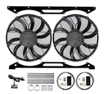 "Revotec Electrical Fan Conversion for Series 3 V8 - High Power Suction Fans - for V8 Petrol Vehicles (Twin 12"" Fan)"