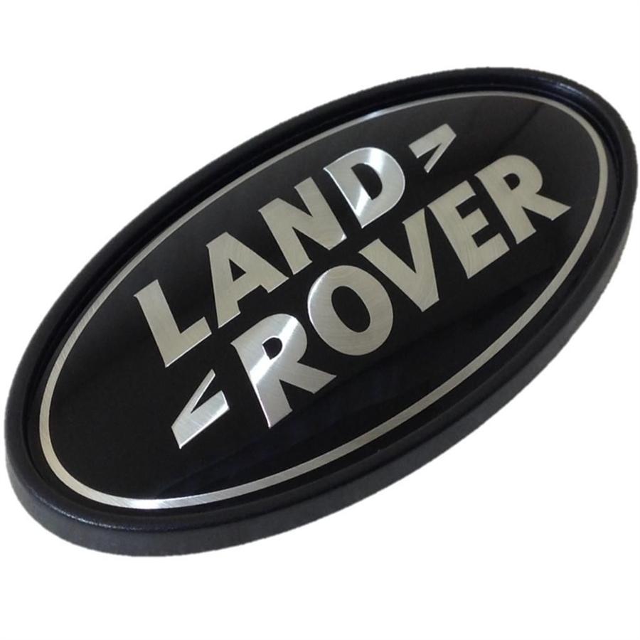 Land Rover Black Silver Rear Oval Badge Genuine Lr