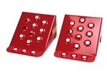 Wheel Chocks in Red - Pair - By Britpart