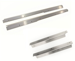Stainless SteelDoor Sill Covers + Stainless Bolt Kits ( FRONT AND SECOND ROW KITS )