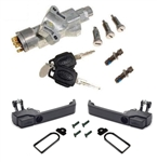 Def large lock ignition and door handle CONV kit 90-16