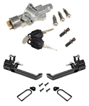 Def Large Lock Ignition & GLOSS BLACK Door Handle CONV Kit 90-16